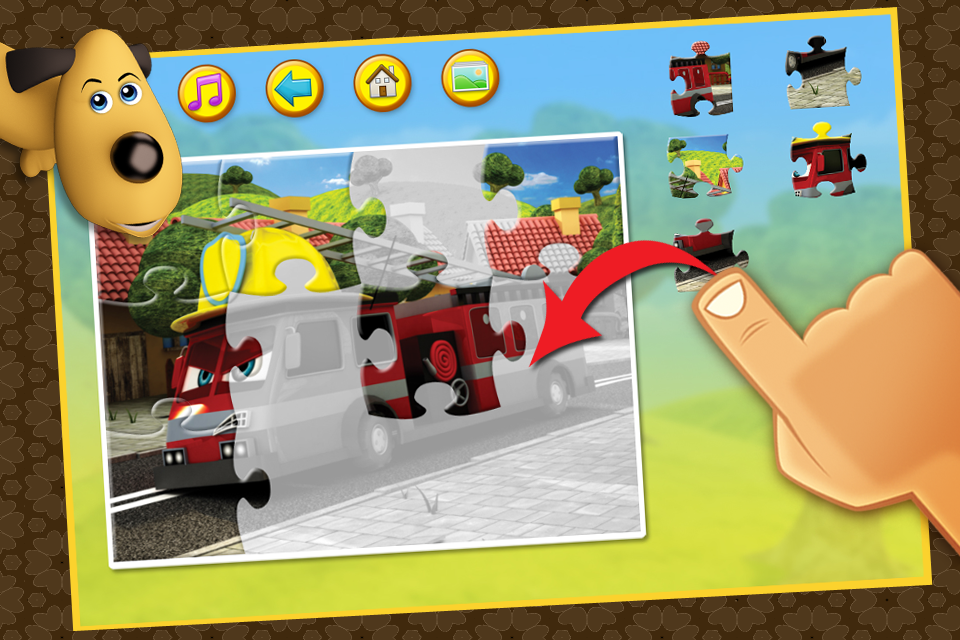 Screenshot Happy Bernard's puzzles for kids. Urban vehicles and building machines. Lite